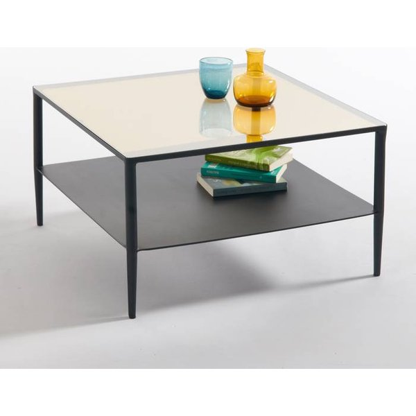 39. Razzi Steel and Glass Coffee Table, Black: £300, La Redoute