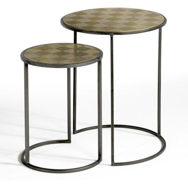 7. ÉDRIC Nest of 2 Tables, silver-coloured: £179, La Redoute
