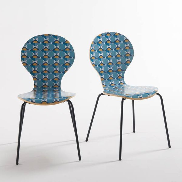 2. Set of 2 Barting Printed Chairs: £134, La Redoute