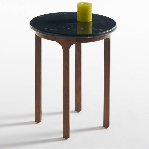 14. Botello Round Side Table with Marble Top, Black: £133, La Redoute
