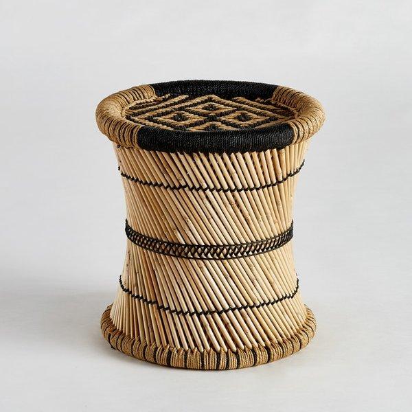 6. Tingda Ikat Print Side Table, Natural/Black: £55, La Redoute