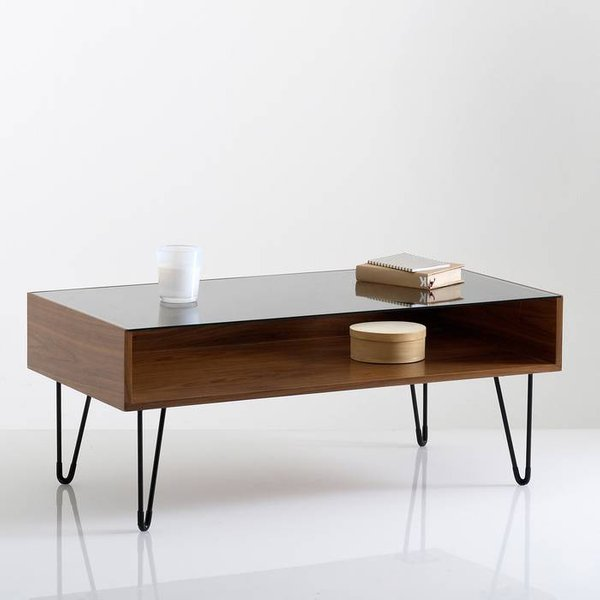 38. Watford Glass Top Coffee Table, Walnut: £188, La Redoute