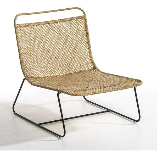 42. E. Gallina Théophane Rattan Lounge Armchair: £404, La Redoute