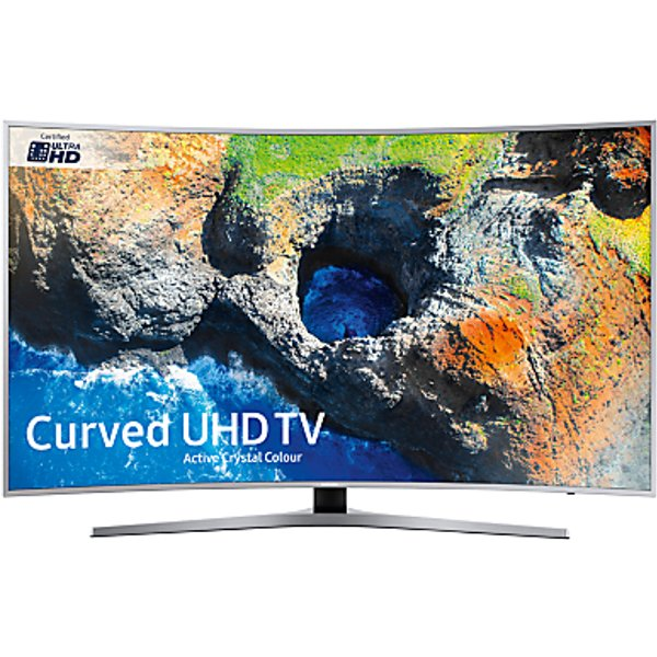 37. Samsung UE49MU6500 Curved HDR 4K Ultra HD Smart TV, 49 with TVPlus & Active Crystal Colour, Silver, : £649, John Lewis