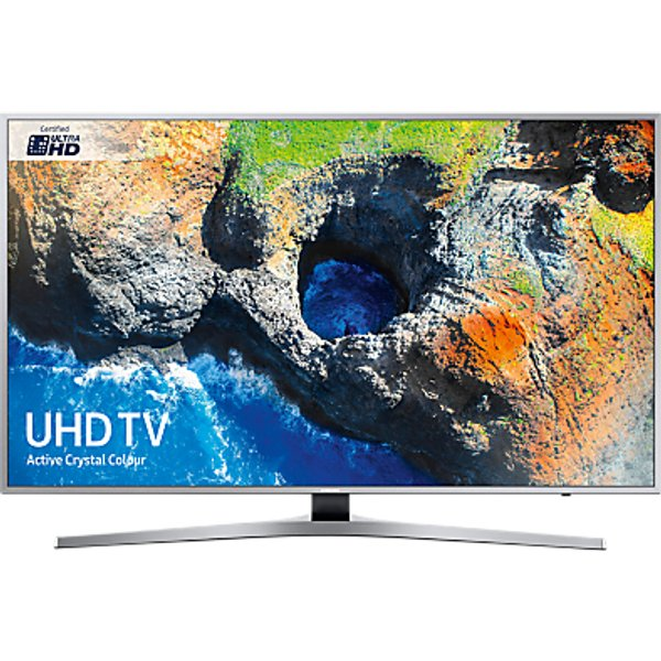 34. Samsung UE49MU6400 HDR 4K Ultra HD Smart TV, 49 with TVPlus & Active Crystal Colour, Silver: £589, John Lewis