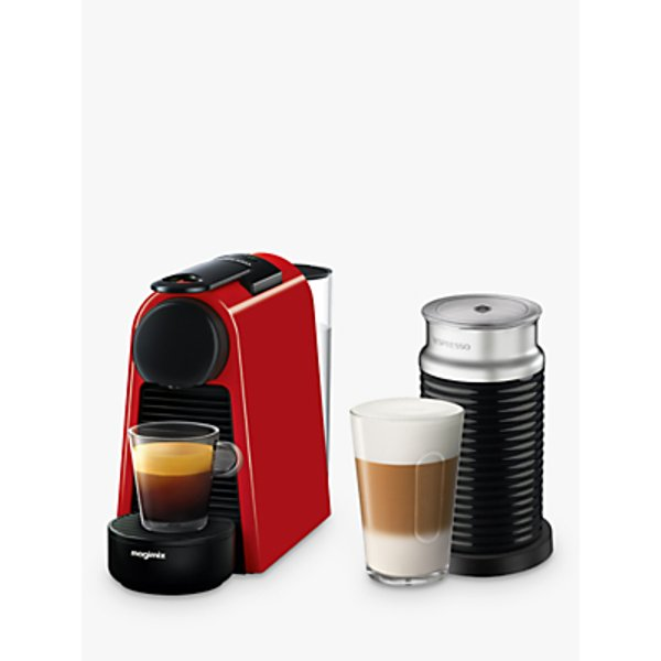 12. Nespresso Essenza Mini Coffee Machine with Aeroccino by Magimix, Red: £126, John Lewis