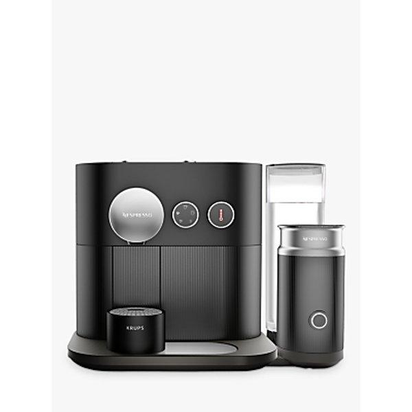 7. Nespresso Expert Coffee Machine with Aeroccino by KRUPS, Matt Black: £299.99, John Lewis