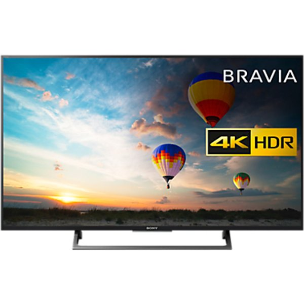 38. Sony Bravia 49XE8005 LED HDR 4K Ultra HD Smart Android TV, 49 with Freeview HD & Youview, Black: £849, John Lewis