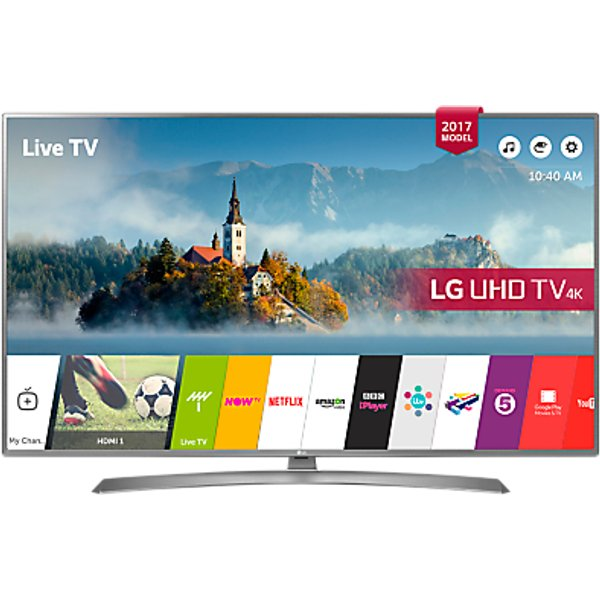 7. LG 49UJ670V LED HDR 4K Ultra HD Smart TV, 49 with Freeview Play & Crescent Stand, Grey: £629, John Lewis