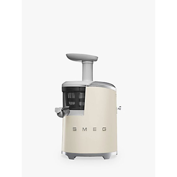 5. Smeg SJF01CRUK Retro Style Slow Juicer, Cream: £449.95, John Lewis