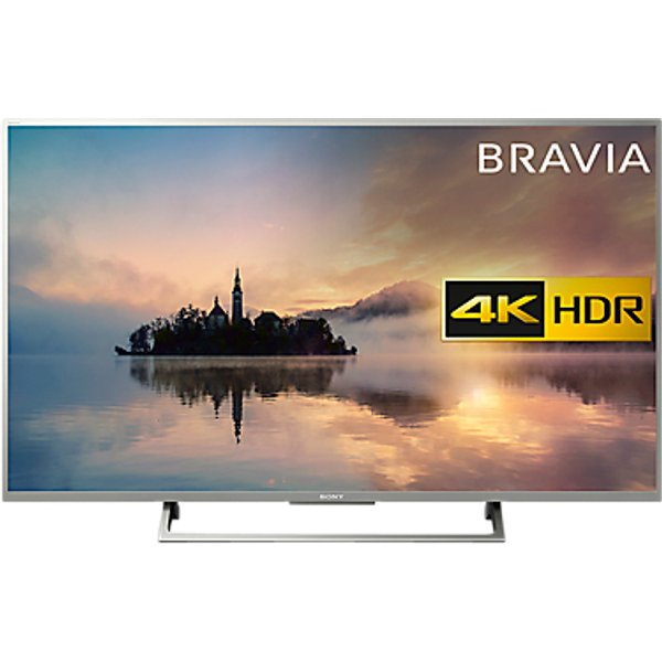 33. Sony Bravia 55XE7073 LED HDR 4K Ultra HD Smart TV, 55 with Freeview HD & Cable Management, Silver: £739, John Lewis