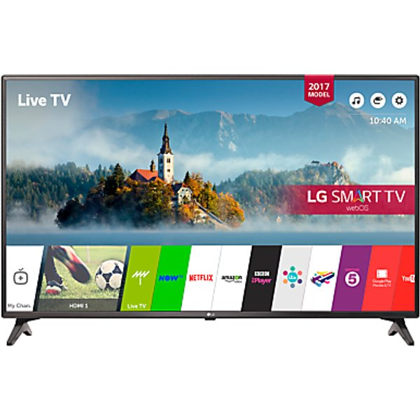 6. LG 43LJ594V LED Full HD 1080p Smart TV, 43 with Freesat HD & Freeview Play, Black: £379, John Lewis