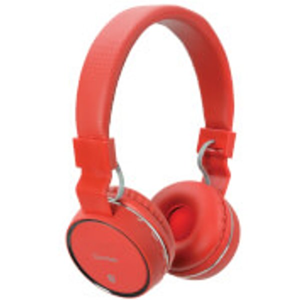 64. AV: Link Wireless Bluetooth On-Ear Noise Cancelling Headphones (With Built-in FM Radio) - Red, PBH10: £17.99, Zavvi