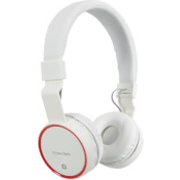 63. AV: Link Wireless Bluetooth On-Ear Noise Cancelling Headphones (With Built-in FM Radio) - White, PBH: £17.99, Zavvi
