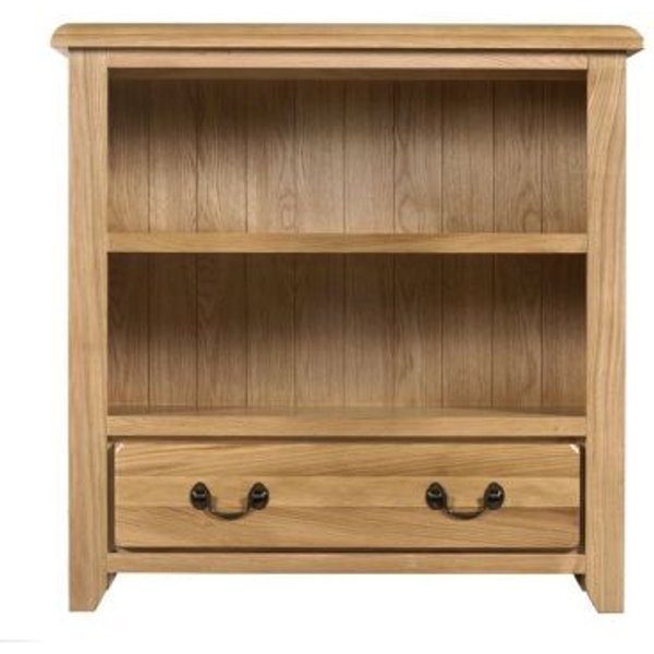 25. Oakham Oak Bookcase - 90cm: £149, QD stores