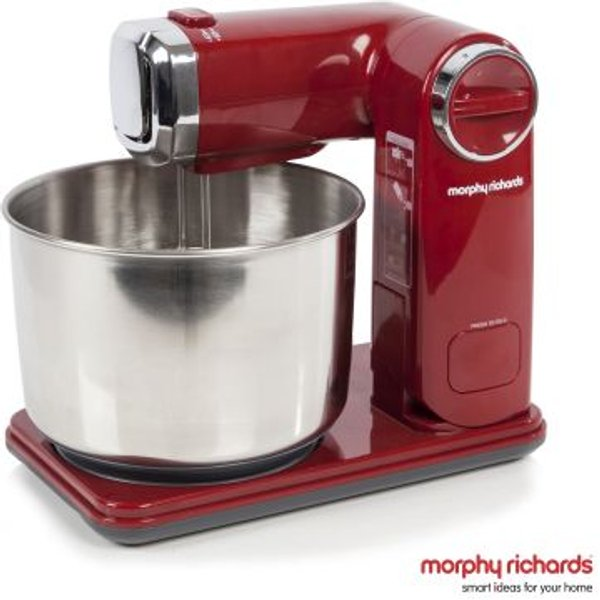 5. Morphy Richards Folding Stand Mixer Refresh - Red: £49.99, QD stores