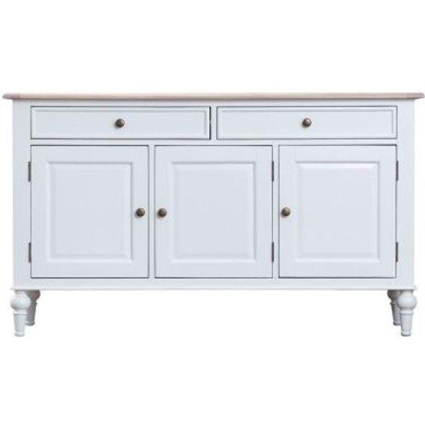 20. Ebenezer Oak 3 Door 2 Drawer Sideboard: £370, QD stores