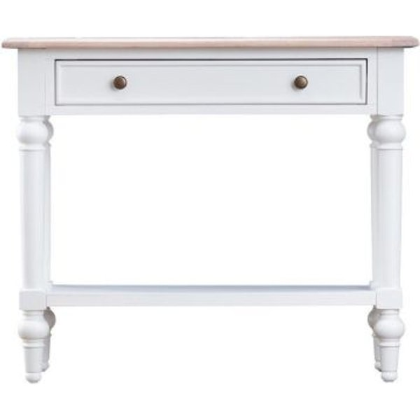 23. Ebenezer Oak 1 Drawer Console Table: £190, QD stores