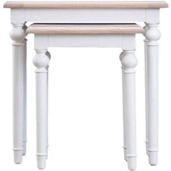 14. Ebenezer Oak Nest Of 2 Tables: £140, QD stores