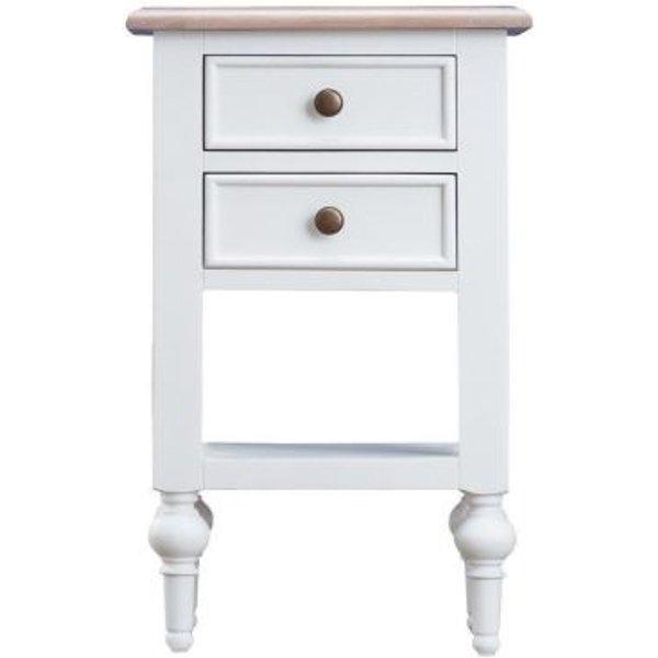 16. Ebenezer Oak 2 Drawer Side Table: £130, QD stores