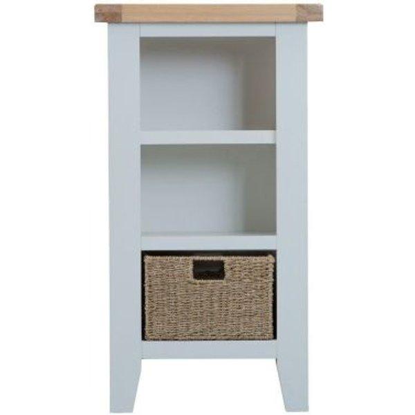 11. Lighthouse Oak Top Small Narrow 3 Shelf Bookcase - Grey: £150, QD stores