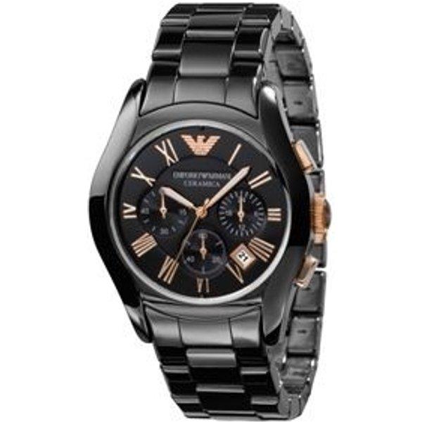 76. Emporio Armani Ceramica men's chronograph black bracelet watch: £449, Fraser Hart