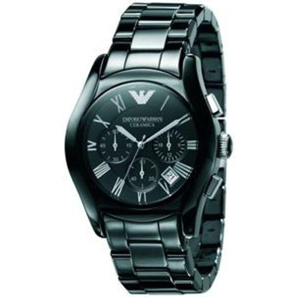 79. Emporio Armani men's chronograph black ceramic watch: £449, Fraser Hart