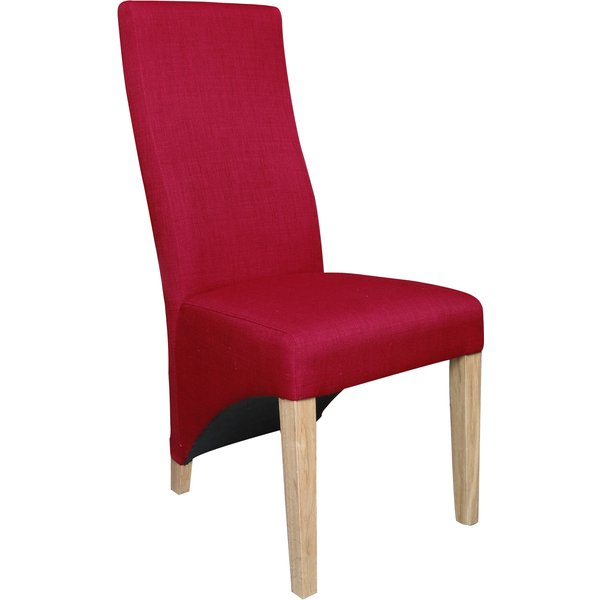 34. Abella Red Fabric Dining Chairs (Pair): £239, Great Furniture Trading Company