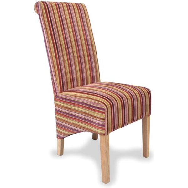 1. Dalia Jupiter Shiraz Striped Fabric Dining Chairs (Pair): £259, Great Furniture Trading Company