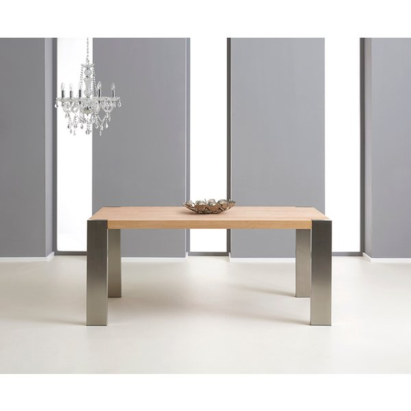 8. Soho 180cm Oak and Metal Extending Dining Table: £949, Great Furniture Trading Company