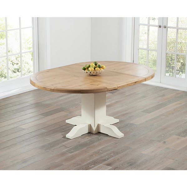 12. Torino Oak & Cream Extending Pedestal Dining Table: £899, Great Furniture Trading Company