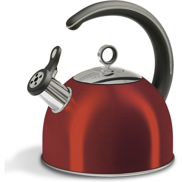 5. Morphy Richards 2.5L Whistling Traditional Stove Top Kettle - Red: £24.99, Robert Dyas