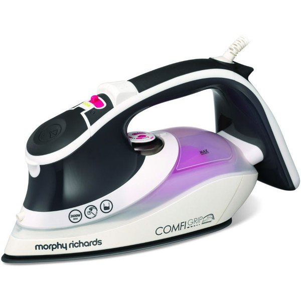 25. Morphy Richards Comfigrip 2600W Steam Iron - Charcoal/Pink: £37.99, Robert Dyas