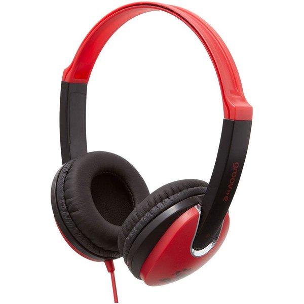 7. Groov-e Kidz DJ Style Headphones - Red: £9.99, Robert Dyas