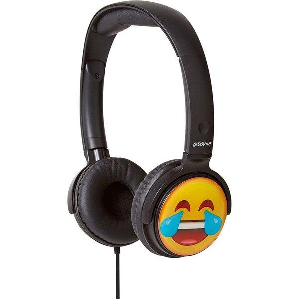 5. Groov-e Earmoji DJ Style Headphones - Laughing Face: £11.99, Robert Dyas