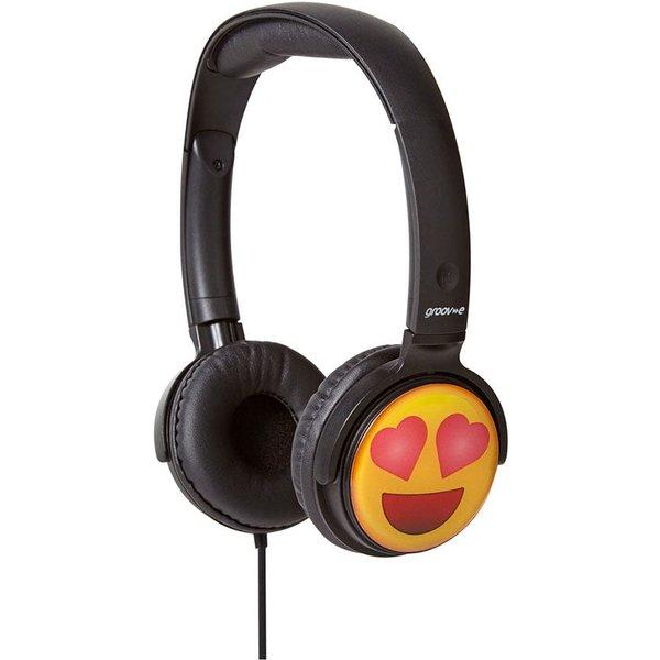 4. Groov-e Earmoji DJ Style Headphones - Heart Eyes: £11.99, Robert Dyas