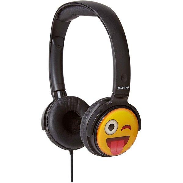 6. Groov-e Earmoji DJ Style Headphones - Cheeky Face: £11.99, Robert Dyas
