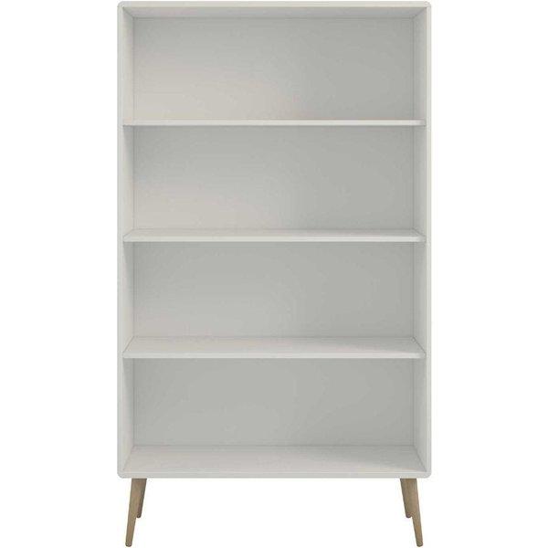 19. Steens Retro Wide Bookcase, White: £129.99, Ryman