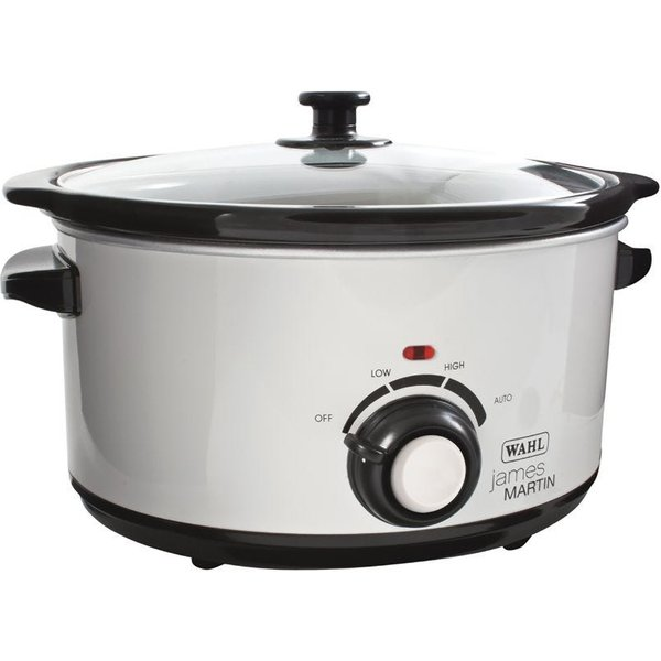 7. James Martin Slow Cooker 5L Black And White: £54.99, Ryman