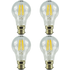 4 Pack B22 Bayonet LED 6W Filament GLS Bulb (60W Equivalent) 806 Lumen - Warm White Clear