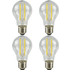 4 Pack E27 Screw LED 6W Filament GLS Bulb (60W Equivalent) 806 Lumen - Warm White Clear