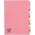 5 Star A4 20 Part Assorted Subject Dividers