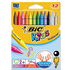 Bic Kids Plastidecor Crayons Vivid Assorted Colour Hard Long-lasting Sharpenable (12 Pack)