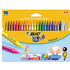 Bic Kids Plastidecor Crayons Vivid Assorted Colour Hard Long-lasting Sharpenable (24 Pack)