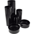Black Desk Tidy (5 Tubes, 2 Shallow Trays)