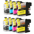 Brother LC-123 Compatible Black & Colour 8 Ink Cartridge Multipack