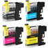 Brother LC-123 Compatible Black & Colour Ink Cartridge Multipack
