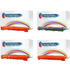 Brother TN241BK & TN245C/M/Y Compatible Black & High Yield Colours Toner Cartridge Multipack