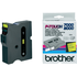 Brother TX-651 Original P-Touch Black on Yellow Tape 24mm x 15m