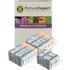 Canon BCI-3 BK, BCI-6 BK/C/M/Y Compatible Black & Colour Ink Cartridge 12 Pack